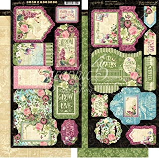 Graphic 45 4501873 Bloom Tags & Pockets Craft Paper, Multi