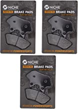 NICHE Brake Pad Set for Harley-Davidson Street Glide Dyna Road King Softail 44082-00E Front Rear Semi-Metallic 3 Pack