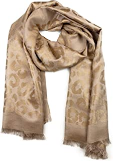 Amicale Designer Silk Blend Lurex Jacquard Scarf