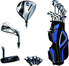 Precise S7 All Graphite Complete Golf Clubs Package Set Driver, 3, 5 Fairways, 24, 27 Hybrids, S.S. 7-SW Irons, Putter, Cart Bag - Choose R Flex or Senior Flex