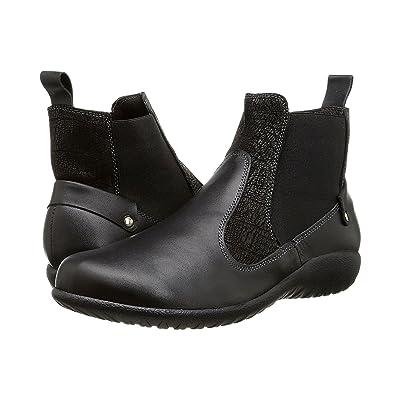 Naot Konini (Black Raven Leather/Black Crackle Leather/Black Raven Leather) Women