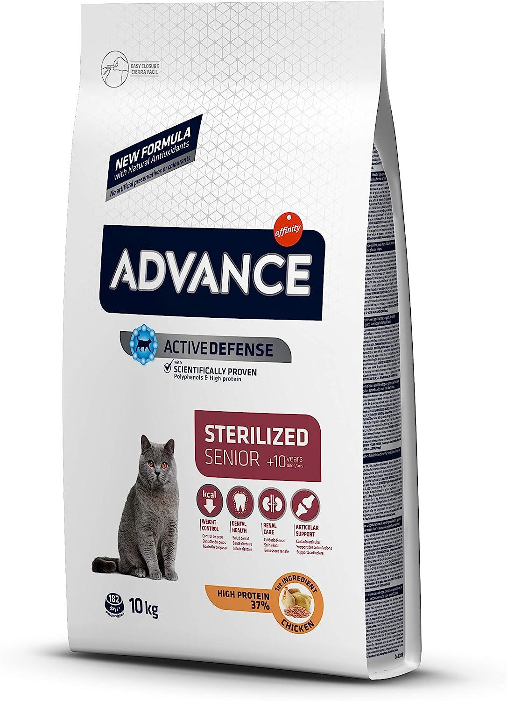 ADVANCE Senior - Pienso para Gatos Esterilizados Senior - 10 kg