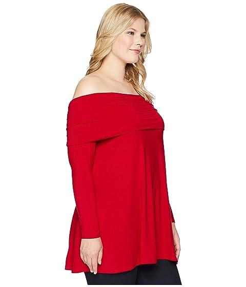 KARI LYN Plus Size Layla Top Red Buy Cheap Footlocker Finishline rYcj62gS