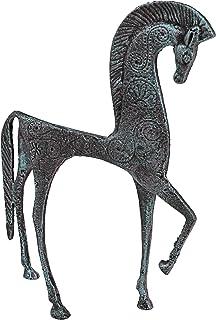 Design Toscano SP806 Greek Ironwork Spartan Horse Statue,verdigris
