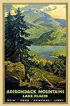Magnet 1920s Adirondack Lake Placid New York Vintage Style Travel Magnet Vinyl Magnetic Sheet for Lockers, Cars, Signs, Refrigerator 5