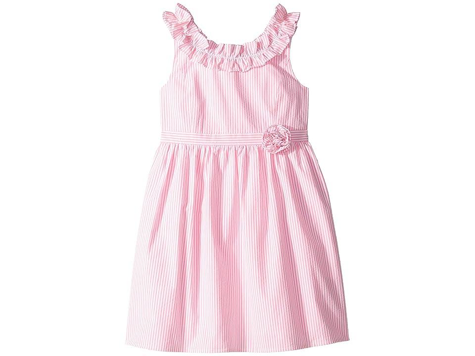 Lilly Pulitzer Kids Georgina Dress (Toddler/Little Kids/Big Kids) (Pink Tropics Seersucker) Girl