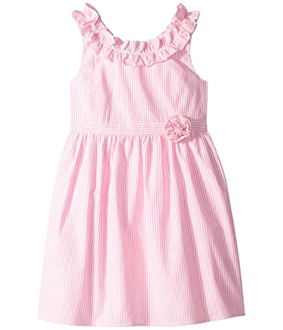 Lilly Pulitzer Kids Georgina Dress (Toddler/Little Kids/Big Kids) (Pink Tropics Seersucker) Girl