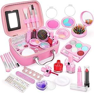 Dreamon kindermake-up sets voor meisjes, wasbare kinderen spelen make-upspeelgoed Nagellakset niet giftig met koffer, voor...