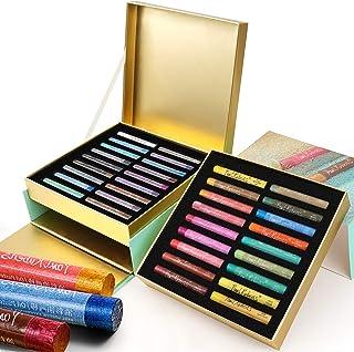 Paul Rubens Oil Pastels ، 36 رنگ زرق و برق دار برای ایجاد جلوه های درخشان فلزی ، غیر سمی و آسان برای استفاده ، برای هنرمندان ، مبتدیان ، دانشجویان