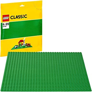 LEGO Classic Green Baseplate 2304 Supplement for Building, Playing, and Displaying LEGO Creations, 10cm x 10cm, Large Buil...