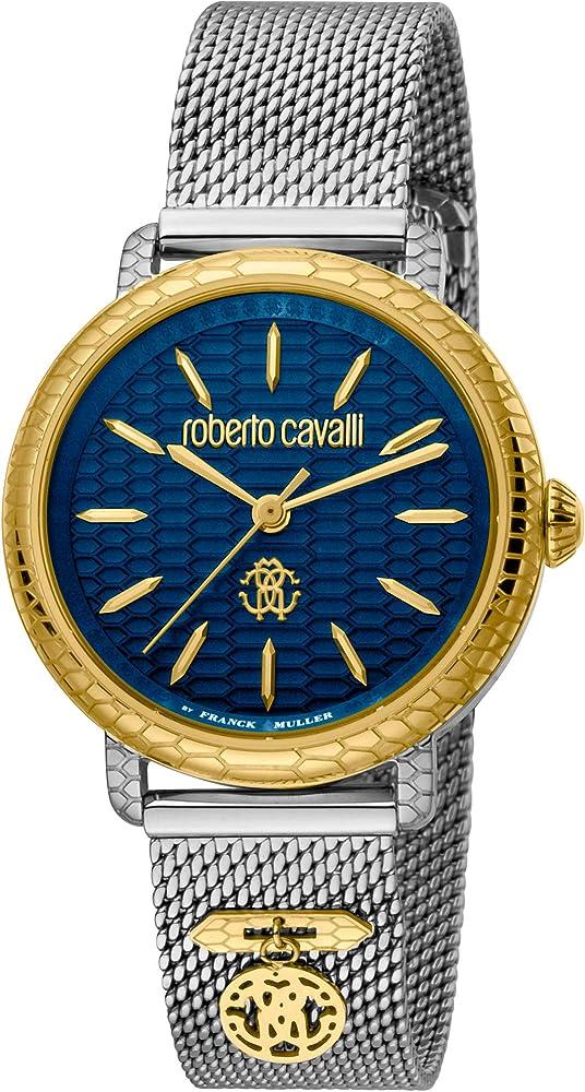 Roberto cavalli by franck muller orologio elegante per donna,in acciaio inossidabile RV1L098M0116