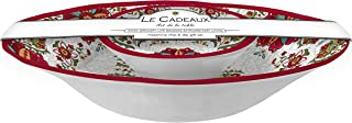 Le Cadeaux Melamine Allegra Red - Set of 2 Chip Dip Set Bowls
