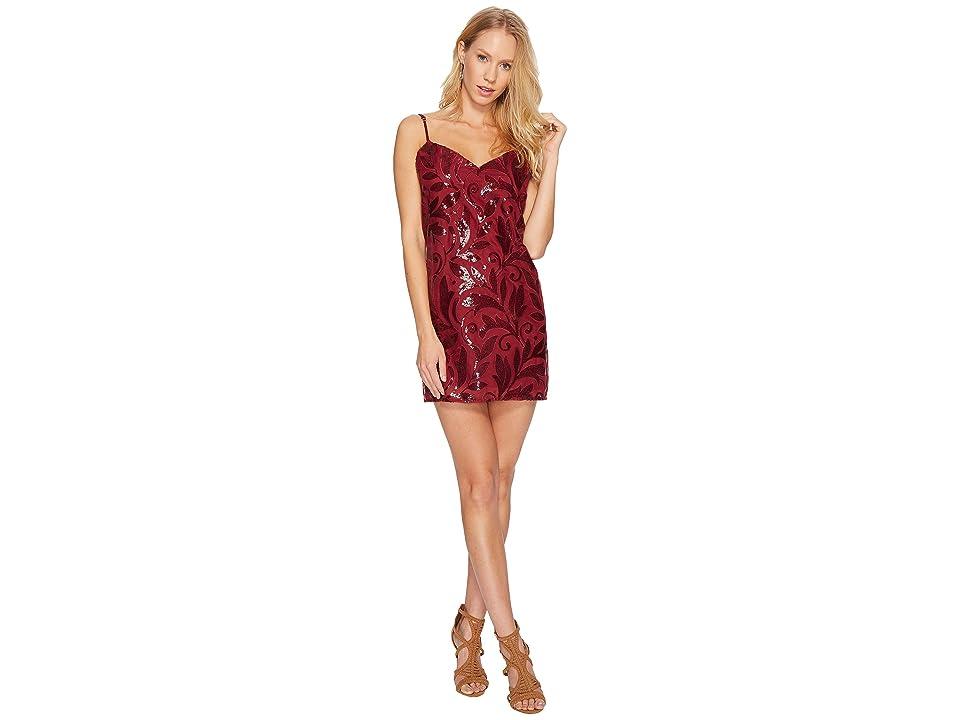 Show Me Your Mumu Vivienne Slip Dress (Fairy Glitzmother Burgundy) Women