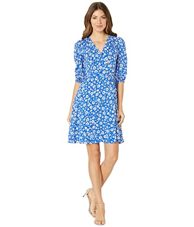 Calvin Klein Rayon Challis Floral Print Dress Women