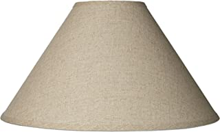 53e3b2b9fa3 Burlap Empire Lamp Shade Rustic Fabric with Harp 6x19x12 (Spider) -  Brentwood
