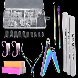 Acrylic Nail Clipper Kit Akamino 100 Pieces Acrylic Nail Tips, Acrylic Nail Cutter & Cuticle Nipper & Pusher & Nail File &...