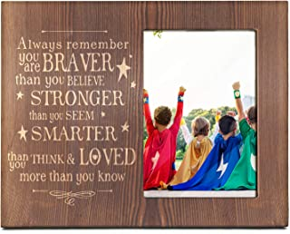 Ku-dayi Always Remember You are Braver Stronger Smarter Than You Think -Inspirational Picture Photo Frame Gift for Someone Special