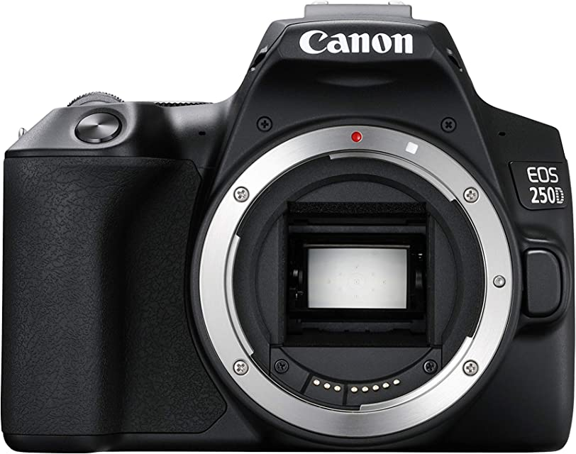 Canon EOS 250D - Cámara Digital (241 MP 6000 x 4000 Pixeles CMOS 4K Ultra HD Pantalla táctil) Negro