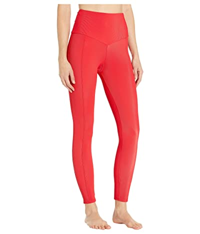 Onzie Sweetheart Midi Leggings (Red Rib) Women