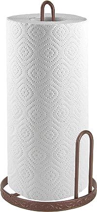 Home Basics Amsterdam Collection Kitchen Storage Set, Bronze (Paper Towel Holder)