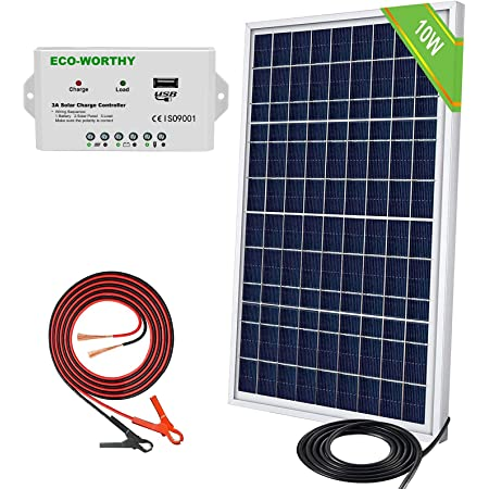RiToEasysports Solar Panel Charger,7W 10V Outdoor Solar Panel for DIY Battery Charger Power Supply