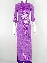 ÁO DÀI Tím Lụa Thái Tuấn   Purple Silk AO DAI
