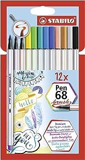 STABILO Pen 68 brush Rotulador punta de pincel - Estuche con