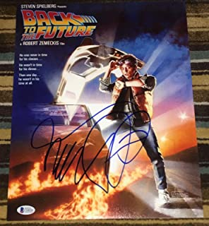 michael j fox autograph back to the future