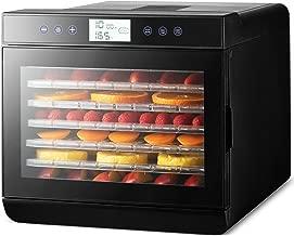 MAGIC MILL Professional Food Dehydrator, 7 Drying Racks Multi-Tier Food Preserver, Digital Control BUNDLE BONUS 2 Fruit Leather Trays, 2 Fine Mesh Sheets,
