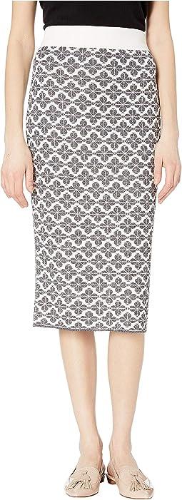 Floral Knit Skirt