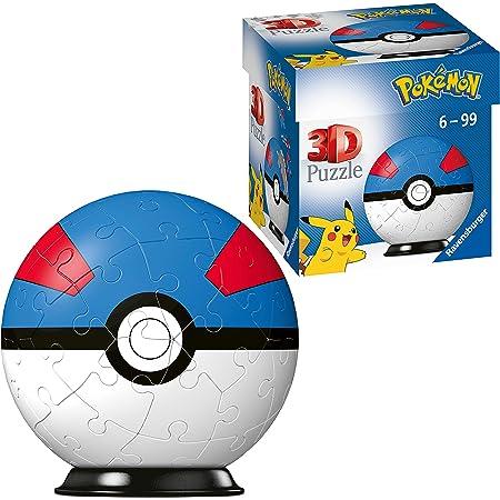 Ravensburger- Puzzles 3D 54 pièces-Super Ball/Pokémon Enfant, 4005556112654
