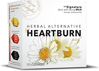 Natural HEARTBURN Relief - Herbal Candy Digestive Lozenges - MILD - SPECIAL DEAL - 8 boxes - Honey Chamomile
