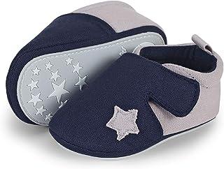 Sterntaler Chaussons Toile Velcro BB, Mocassins (Loafer) Bébé garçon, Bleu (Marine 2301951), 21/22 EU