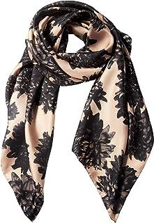 BELLA BALLOU Womens Fashion Silk Scarf Shawl Wrap Flower Pattern HAPPY MUMS Soft Light   Sand