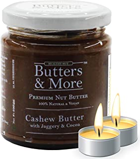 Butters & More Vegan Cashew Butter with Dark Cocoa & Organic Palm Jaggery (200G). Healthy Chocolate Spread. with a Surpris...