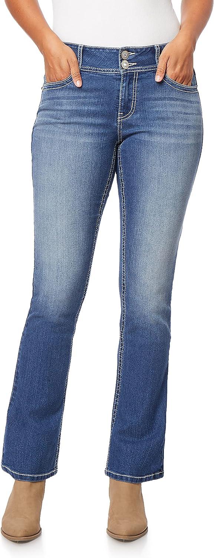WallFlower Women's Instastretch Bling Luscious Curvy Bootcut Jeans