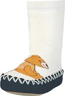 Zapatillas con Suela Antideslizante Oso, Pantuflas Unisex Niños, Beige (Natur 2), 17/18 EU