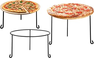 MyGift Metal Wire Round Pizza Pan Riser Racks, Set of 3