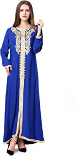 Baya Muslim Dress Dubai Kaftan for Women Long Sleeve Long Arabic Dress Abaya Islamic Clothing Girls Jalabiya Caftan