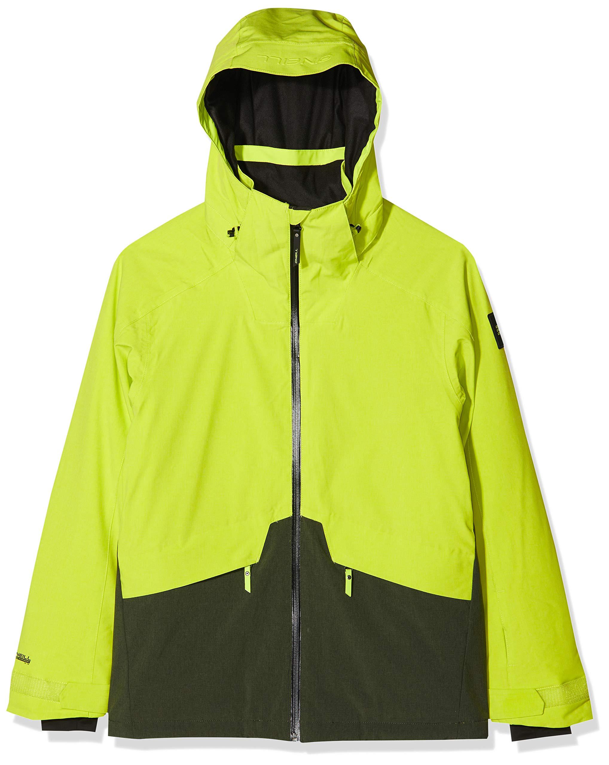 O'Neill Herren PM Quartzite Jackets Snow, Lime Punch, M