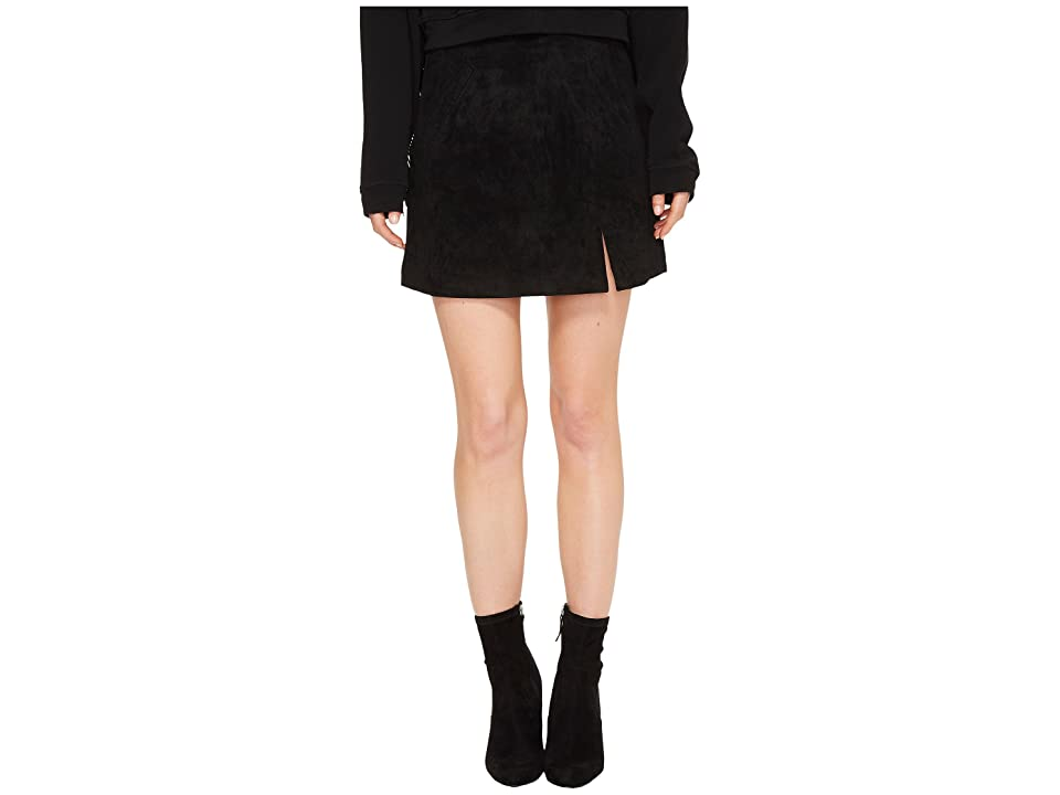 Blank NYC Suede Mini Skirt in Black/Seal The Deal (Black/Seal The Deal) Women