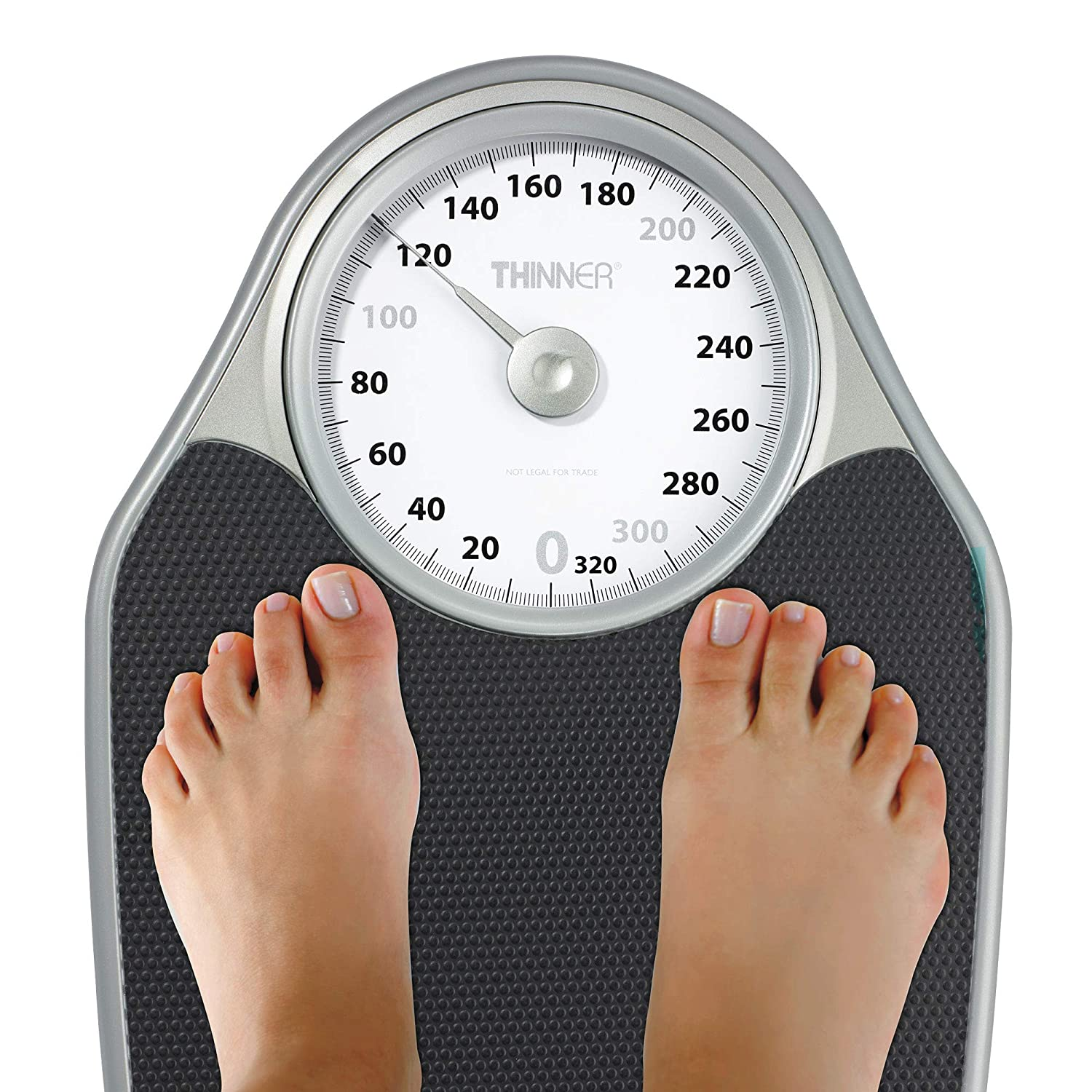 1 count Analog Bath Scale Measures Weight Up To 330 Pound Thinner Scales Extra-large Dial Analog Precision Bathroom Scale