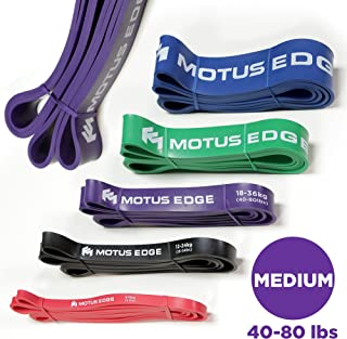 (Purple (Medium)) - Motus Edge MEDIUM Resistance Band - CrosstFit, Assisted Pull-Up Band, Mobility, Rehab, Stretching - PURPLE (18-36kg)