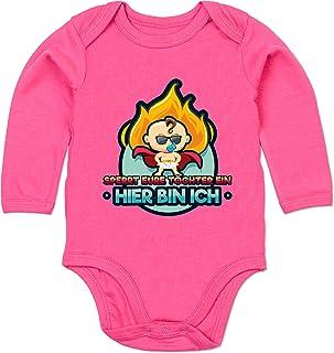 Shirtracer Sprüche Baby - Hier Bin Ich - Sperrt Eure Töchter EIN - Baby Body Langarm