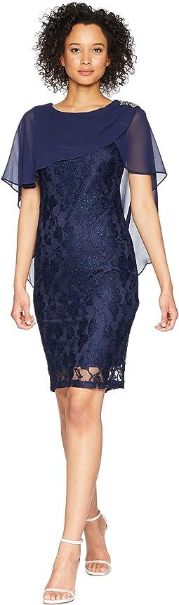 Capelet Lace Dress