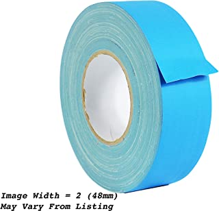 WOD CGT-80 Light Blue Gaffer Tape Low Gloss Finish Film, Residue Free, Non Reflective Gaffer, Better than Duct Tape (Available in Multiple Sizes & Colors): 2 in. X 60 Yards (Pack of 1)