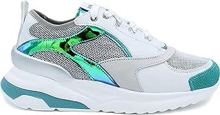 Keys Art.K-4451 col.White/blugreen 4251 Sneakers Donna