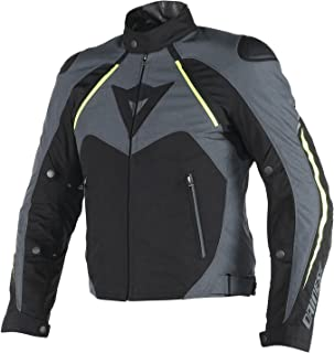 Dainese Hawker D-Dry Mens Jacket Black/Ebony/Fluo Yellow 52 Euro/42 USA