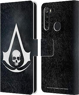 オフィシャル Assassin's Creed ホワイト Black Flag ロゴ Xiaomi Redmi Note 8T 専用レザーブックウォレット カバーケース