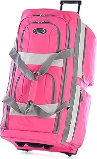 Olympia USA 33 Inch 8 Pocket Rolling Duffel, Hot Pink (Pink) - SRD-33-HP